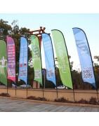 Banderas publicitarias tipo surf grandes
