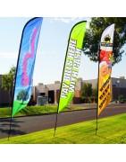 Banderas publicitarias tipo surf XL