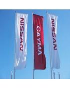 Banderas publicitarias tipo rectangulares 3000 x 1000